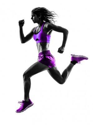 Adesivo corredor da mulher silhueta running corredor de jogging