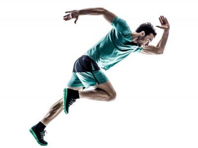 Adesivo Corredor homem corredor correr isolado