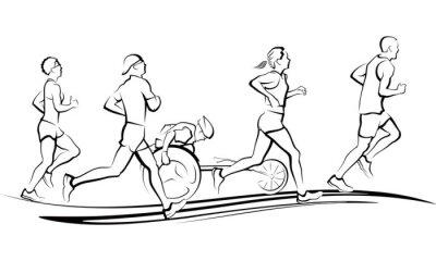 Adesivo Corredores de maratona