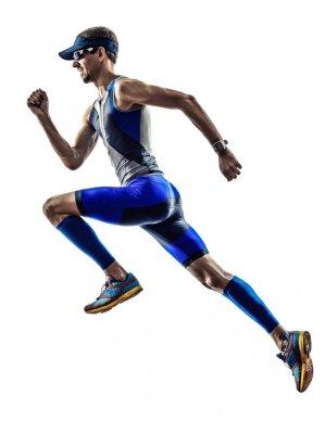 Adesivo corredores homem triathlon ironman atleta correndo