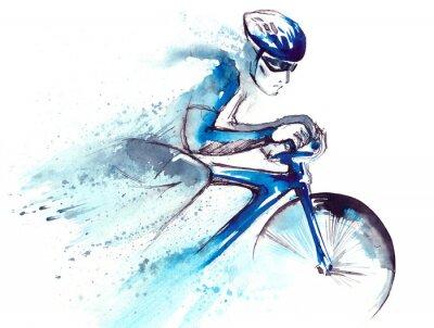 Adesivo corrida ciclista