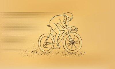 Adesivo Corrida de ciclismo. Ilustração retro do desenho do vetor.