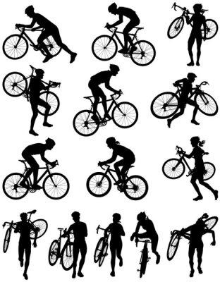 Adesivo Corrida de Cyclocross silhueta