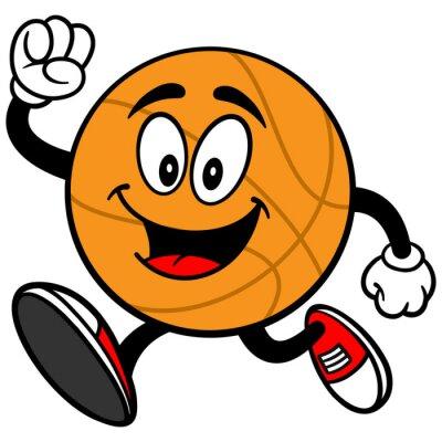 Adesivo Corrida dos desenhos animados do basquetebol