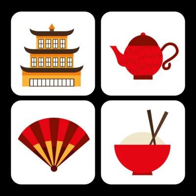 Adesivo cultura chinesa
