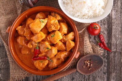 Adesivo curry chicken with sauce and rice