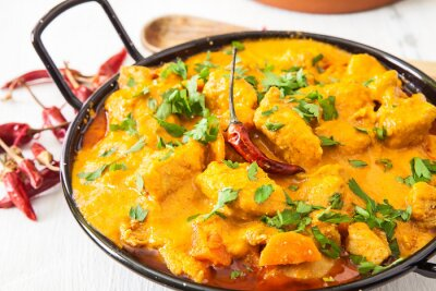 Adesivo Curry de frango