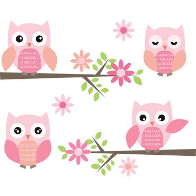 Adesivo Cut Owl and Branches
