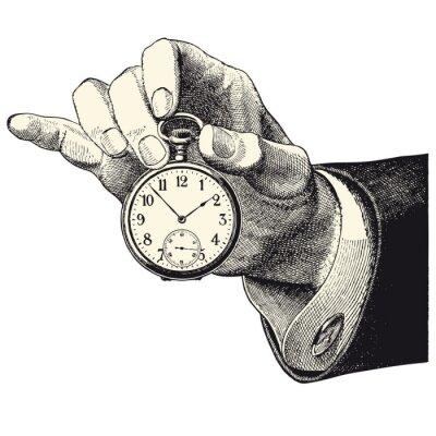 Adesivo D'homme principal inquilino une montre