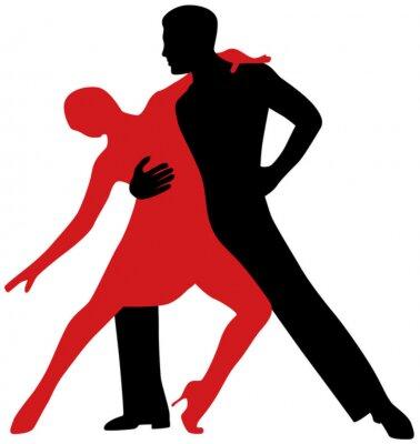 Adesivo Dançarinos de tango