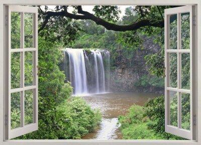 Adesivo Dangar Falls View na janela aberta