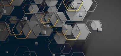 Adesivo Datos en la nube y red.Concepto de ciencia y tecnología.Malla y formas geométricas
