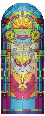 Adesivo De vidro colorido