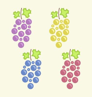 Adesivo Definir Cachos coloridas da uva