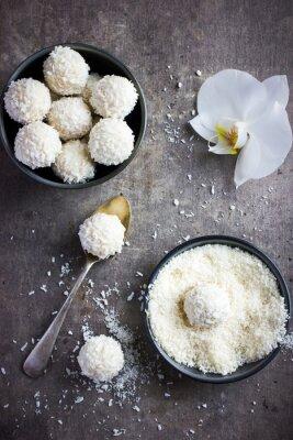 Adesivo Delicioso chocolate branco homamade e bolinhas de coco