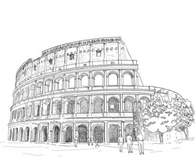 Adesivo Desenho Coliseu Romano