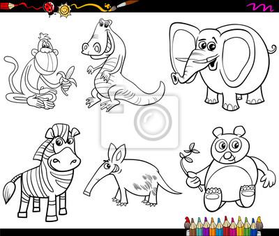 Desenho De Animais Selvagens Para Colorir Laptop Adesivos