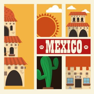 Adesivo Desenho de cultura mexicana