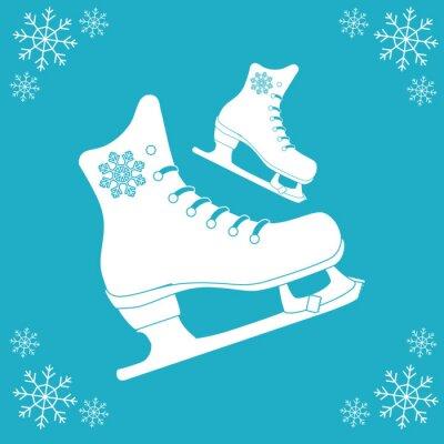Adesivo Desenho de ícone de patinação
