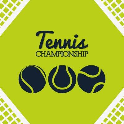 Adesivo Desenho do esporte do tênis