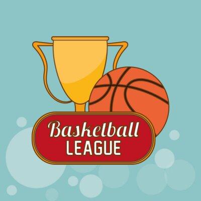Adesivo Desenho do ícone do basquetebol