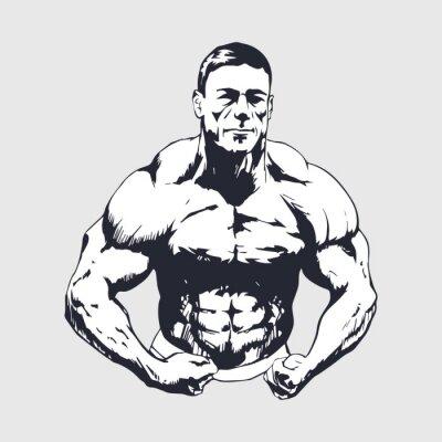Adesivo Desenho homem muscular - Bodybuilder