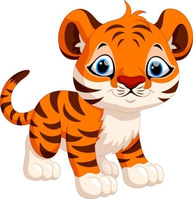 Adesivo Desenhos animados bonitos do tigre