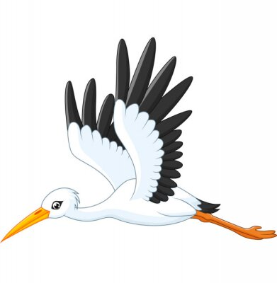 desenhos animados cegonha voando laptop adesivos adesivos para a
