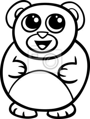desenhos animados do kawaii página para colorir urso laptop adesivos
