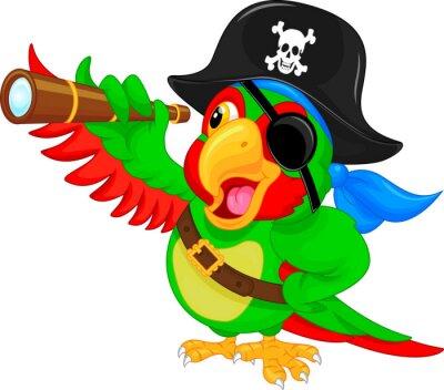Adesivo Desenhos animados do papagaio do pirata