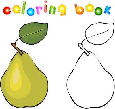 Adesivo Desenhos animados livro de colorir pêra