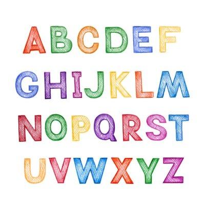 Adesivo Desenhos animados para crianças ABC