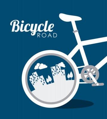 Adesivo Design da bicicleta, ilustração do vetor.