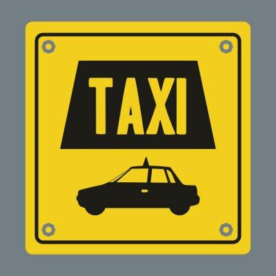 Adesivo Design de serviço de táxi