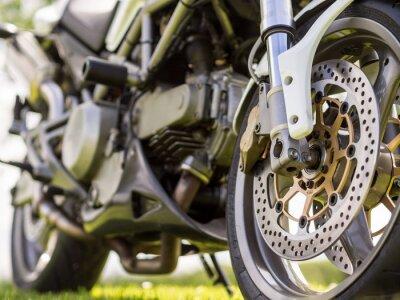 Adesivo Detalhes roda dianteira de uma motocicleta