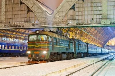 Adesivo Diesel trem de passageiros em Lviv, Ucrânia