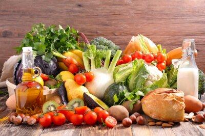 Adesivo Dieta alimentar equilibrada conceito