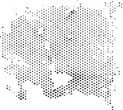 Adesivo Dissipante textura de padrão de meio-tom degenerando. Textura do grunge da textura do vetor.