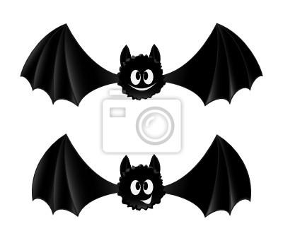 dois morcegos estilo desenho animado laptop adesivos adesivos para