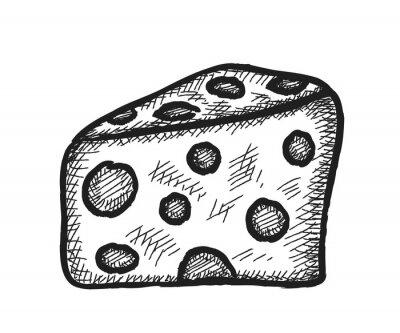 Adesivo doodle queijo