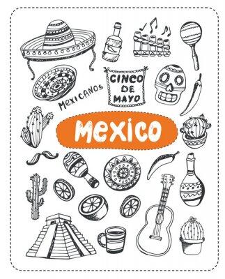 Adesivo Doodle sobre México.