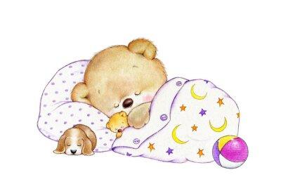Adesivo Dormir urso de peluche