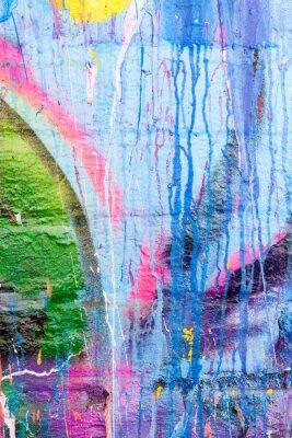 Adesivo Dripping paint graffiti wall