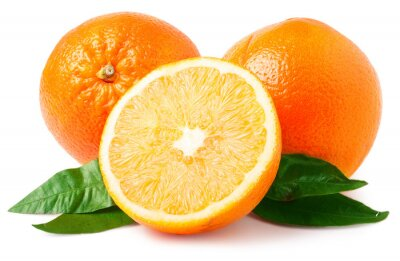 Adesivo Duas laranjas isolado no branco