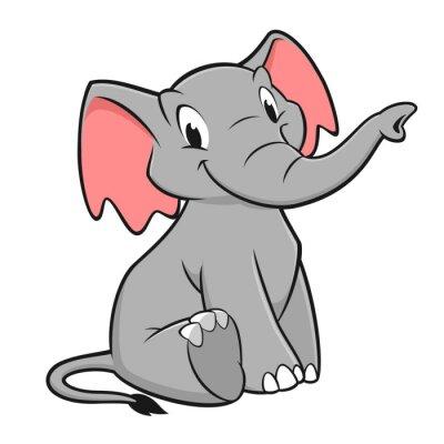 Adesivo Elefante dos desenhos animados