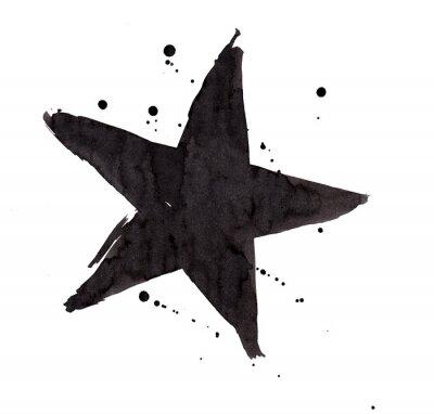 Adesivo Elemento de design. Estrela retro do Grunge do vintage.