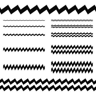 Adesivo Elementos de design gráfico - conjunto de linhas assimétricas