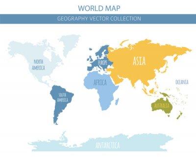 Adesivo Elementos do mapa do mundo. Construa sua própria coleção gráfica de informações geográficas