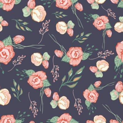 Adesivo Elementos florais coloridos Teste padrão sem emenda 4