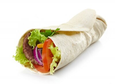 Adesivo Enrole com carne e legumes